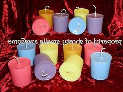 100% Soy Candle Votive Candles Scented One Dozen 12 Choice Y