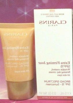 Clarins Extra Firming Wrinkle Control Day Cream SPF15 -0.5oz