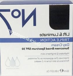 NEW Boots No 7 Lift + Luminate Triple Action Day Cream SPF30