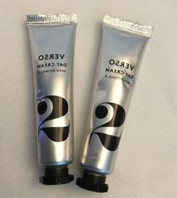 VERSO Skincare DAY Cream Lot 2 X .51 oz RETINOL 8 NEW SEALED
