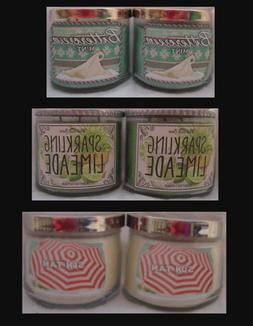 Bath & and Body Works 14.5 oz SCENTED 3 WICK CANDLES Lot of