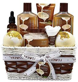 Bath and Body Gift Basket For Women and Men – 9 Piece Set
