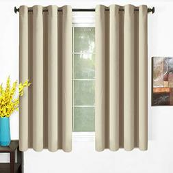 Blackout Curtains Thermal Insulated Grommet Light Blocking D