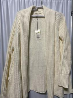A NEW DAY CREAM COLOR LADIES SWEATER NEW WITH TAGS  SIZE MED