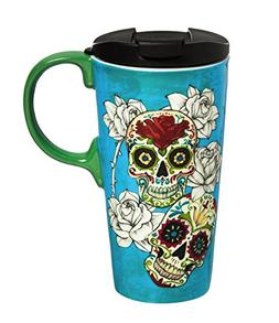 Cypress Home Day of the Dead 17 oz Boxed Ceramic Perfect Tra