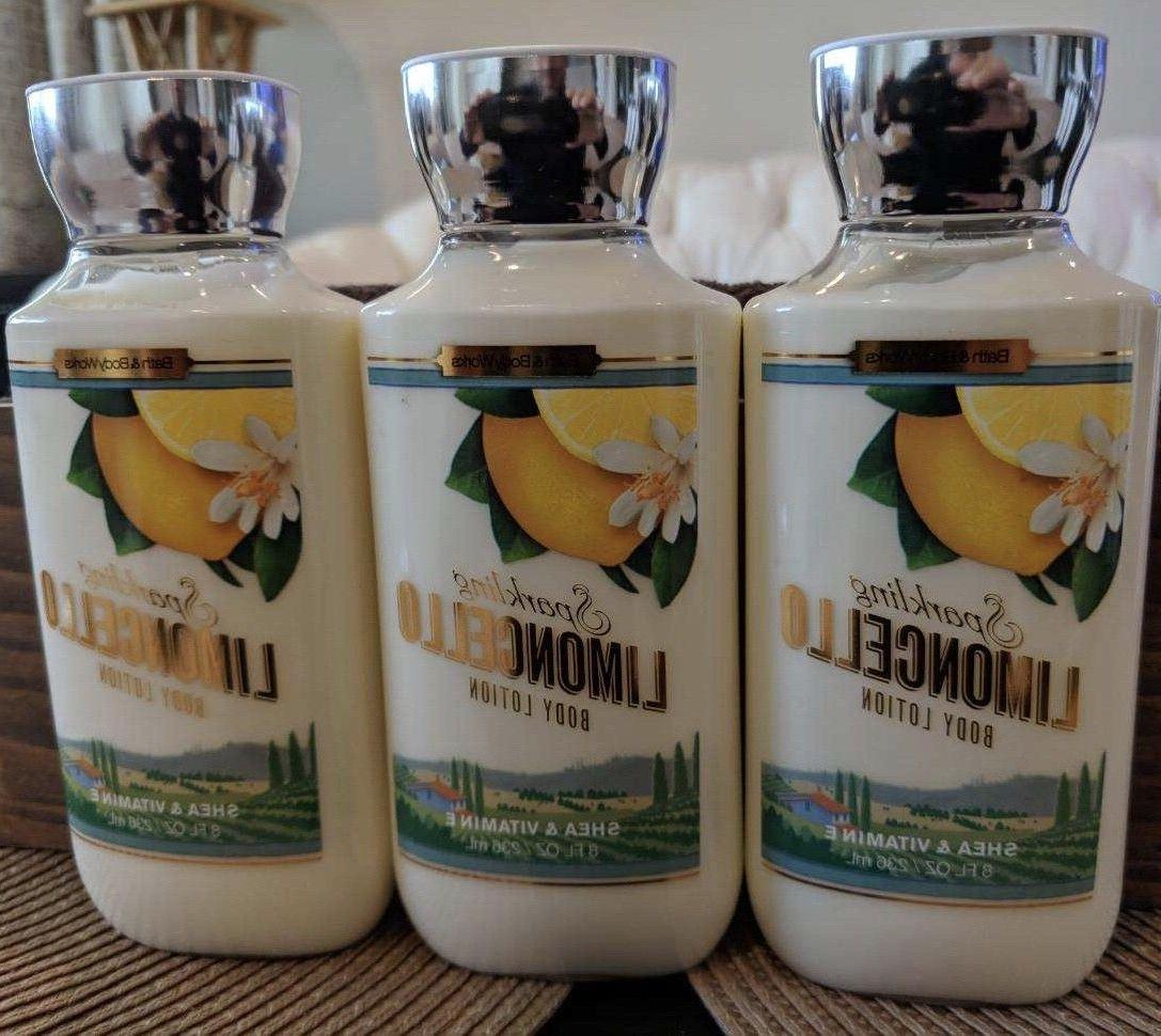 3 cans bath body works sparkling limoncello
