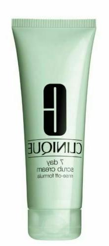 Clinique 7 Day Scrub Cream Rinse Off Formula 3.4 oz. Full Si