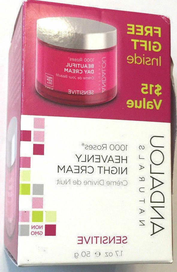 Andalou Naturals 1000 Roses Heavenly Night Cream, 1.7 Ounce,