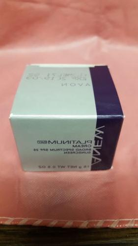 Avon Anew Platinum DAY Cream SPF 25 - Travel Size 0.5 oz  ex