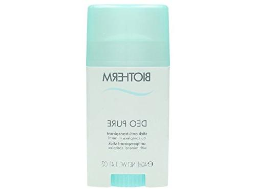 Biotherm Deo Pure Antiperspirant, Stick, 1.41 Ounce