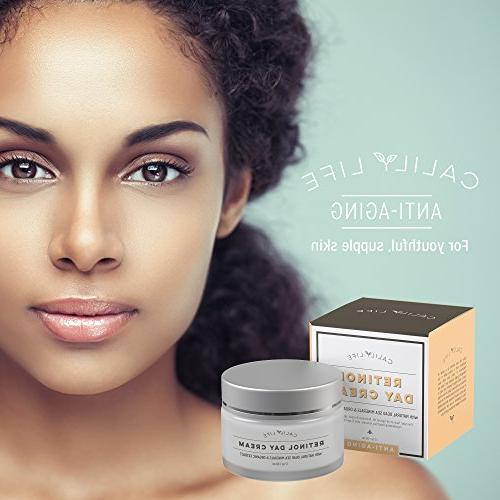 Calily Organic Anti-Aging Retinol Day Cream with Dead Sea Minerals, 1. 7 – Hydrates, Regenerates Strengthens Fast Absorbing