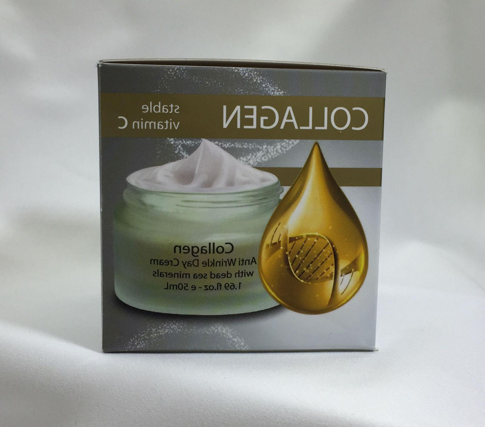 Collagen Anti Aging Wrinkle Day Cream With Dead Sea Minerals