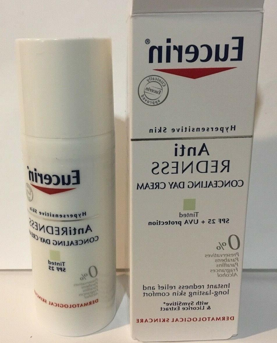 Eucerin Anti-REDNESS Concealing Day Cream Tinted Spf 25 NIB