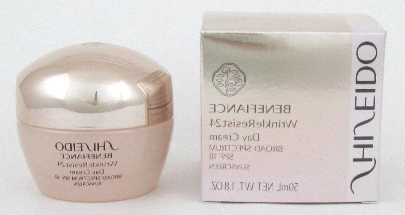 Shiseido Benefiance WrinkleResist24 Day Cream SPF 18 1.8 oz
