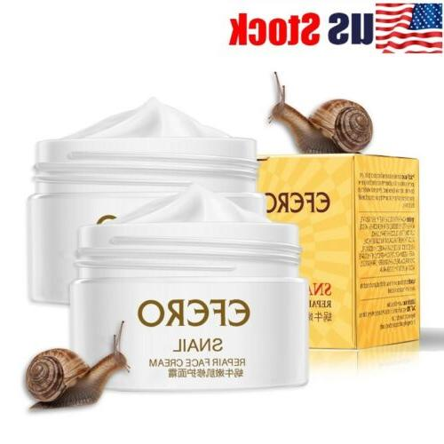 USA Snail Face Cream Hyaluronic Acid Moisturizer Anti Wrinkl