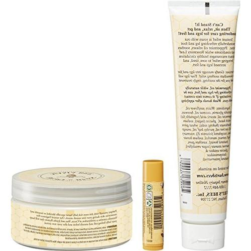 Burt's Gift Set 3 Pregnancy Skin Care Products - Foot Cream, and Original Balm