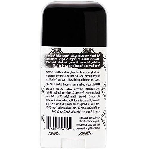 Alaffia Coconut Activated Charcoal Deodorant, Protection Support from Aloe Coconut Vetiver, 2