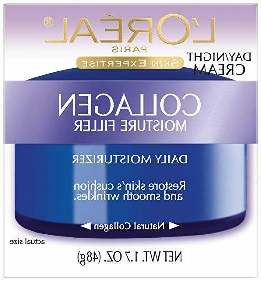 L'Oréal Paris Skincare Collagen Face Moisturizer, Day and N