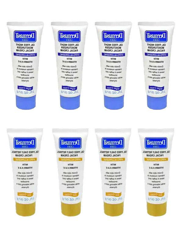 Dermasil Labs Day and Night Facial Creams, 2-oz. Tubes, Hypo