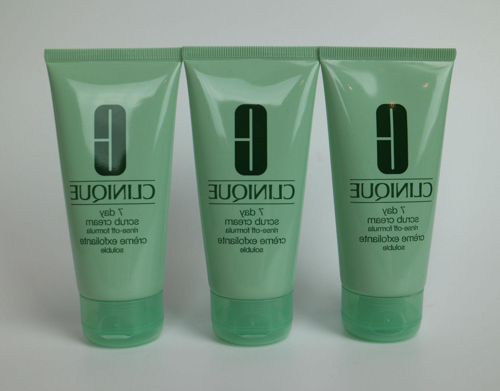 lot 3 x 7 day scrub cream