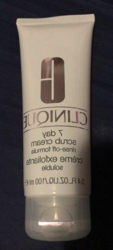 NEW Clinique 7 Day Scrub Cream Rinse-Off Formula 3.4 oz 100