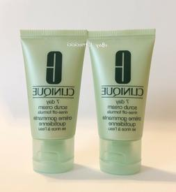 Lot of 2 Clinique 7 Day Scrub Cream 1oz / 30ml Each Sample S