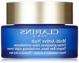 Clarins Multi-Active Normal To Dry Skin Night Cream, 1.7 Oun