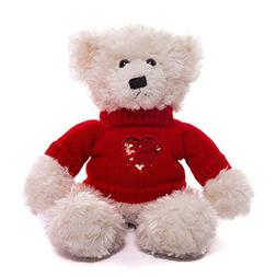 Plushland Plush Soft Valentine Day Brandon Teddy Bear Cream