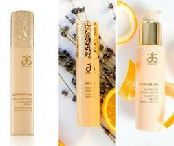 Arbonne RE9 Advanced Facial Cleanser, Renewal Serum, and Day