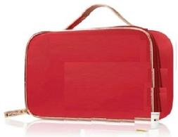 Clarins Red Golden Cosmetics Bag