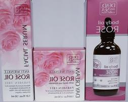 DEAD SEA COLLECTION ROSE OIL 3pcs. Brand New Facial Serum Bo