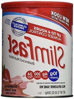 Slim Fast Strawberries & Cream Shake Mix 12.83oz
