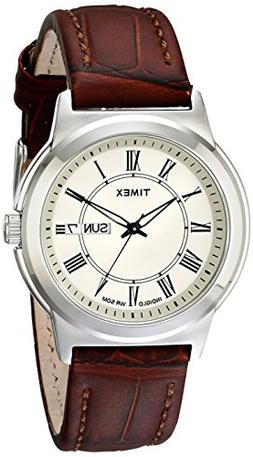 Timex Men's T2E581 Elevated Classics Silver-Tone Watch with