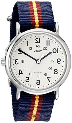 Timex Unisex T2P2349J Weekender Watch with Blue and Maroon S
