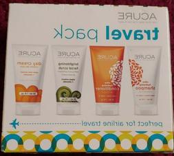 Acure Travel Pack - Shampoo, Conditioner,Facial Scrub & Day